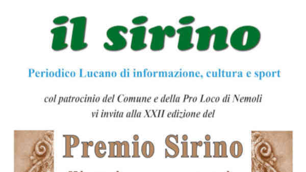 Il XXII^ premio Sirino all'attrice lagonegrese Eva Immediato